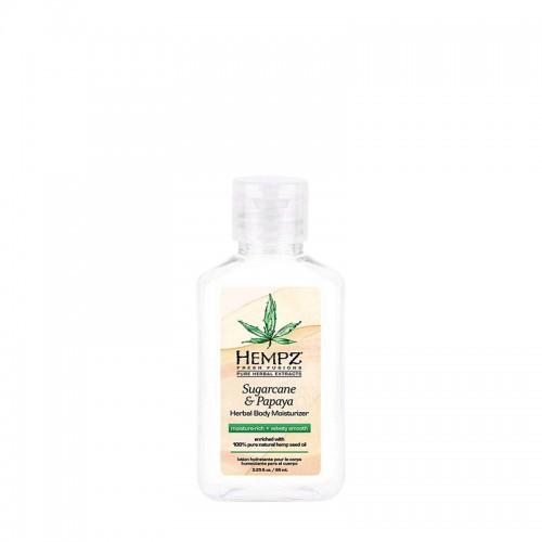 Hydratační tělový krém - cukrová třtina a papája 65 ml