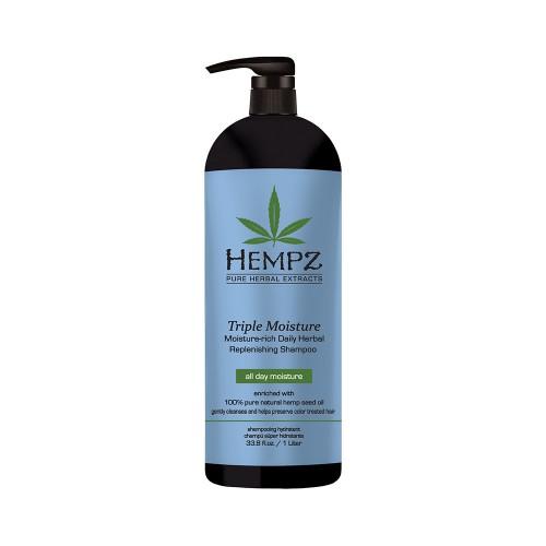 Denní šampon pro suché a poškozené vlasy - trojitá hydratace 1000 ml