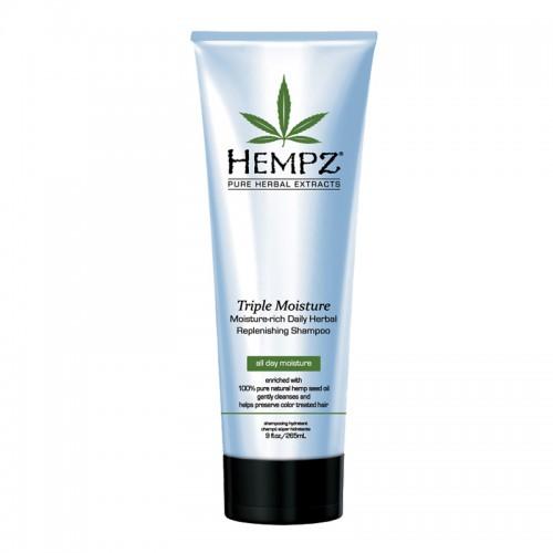 Denní šampon pro suché a poškozené vlasy - trojitá hydratace 266 ml