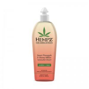 Hydratační olej na tělo a do koupele - sladký ananas a medový meloun 200 ml