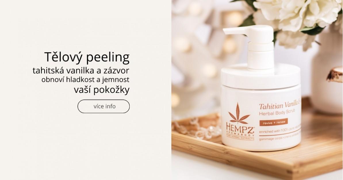 Tělový peeling - tahitská vanilka a zázvor