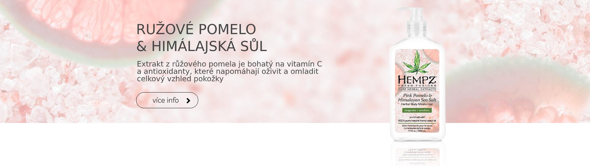 Hydratační tělový krém - růžové pomelo a himálajská sůl